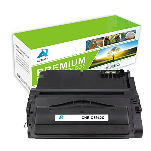 AZTECH 1 Pack 20K Pages High Yield Black Toner cartridge Replaces HP 42X Q5942X Used for HP LaserJet 4200 Set, HP 4300 Set, HP 4240 HP 4250 Set, HP 4350 Set, HP 4345mfp
