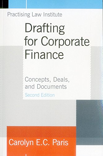 Pdf Law Drafting for Corporate Finance: Concepts, Deals, and Documents