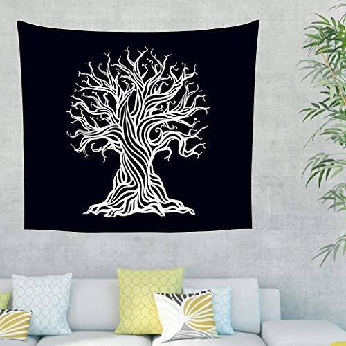 Tapiz de pared abstracto Yggdrasil, árbol de la vida, estilo ...
