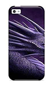 High-end Case Cover Protector For Iphone 5c(purple Dragon)