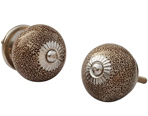 ceramic-knobs-set-of-2-crackled-brown-drawer-knobs-and-pulls-handles-decorative-hand-painted-handle