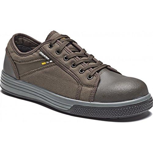 Dickies - Zapatillas deportivas/Zapatos de seguridad sin metal Modelo Ector Unisex Marrón