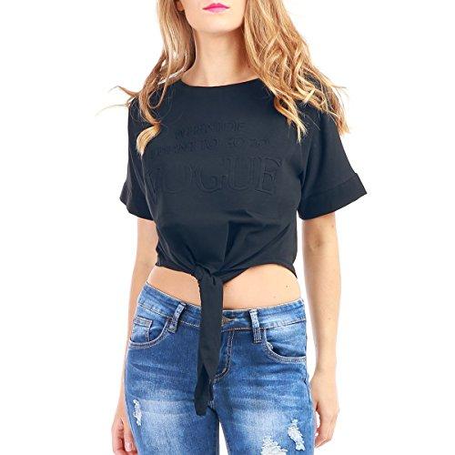 La Modeuse - Camiseta sin mangas - para mujer azul marino