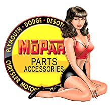 "Mopar Parts Accessories Pin Up 5"" Decal"