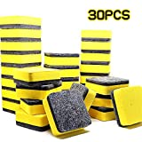 Eraser Magnetic Magnetic Whiteboard,30Pack Chalkboard Cleansers Dry Eraser Wiper for Kids, Home, School, and Office (Yellow, 2 x 2 inch)