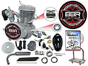 1. 66/80cc Flying Horse Silver Angle Fire Bicycle Engine Kit - 2 Stroke