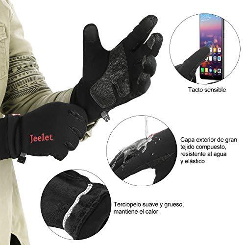 Guantes de Invierno A Prueba de Viento Pantalla Táctil Antideslizante para Moto Ciclismo Conducir Hombre Mujer