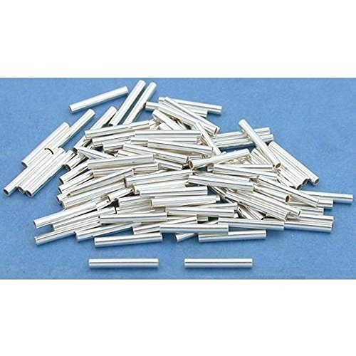 100 Sterling Silver Tube Beads Jewelry Beading Part 8mm