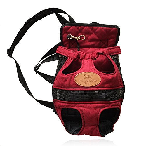 T Tocas Vorder Packung Pet Carrier Tragetasche Hund Rucksäcke mit Mesh, doppelt Schultern Straps, Max Gewicht bis zu 5,5 kg - große