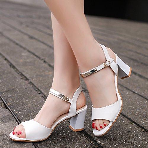 Et Sandales Sandals Femmes Light Sandales Fille SHOESHAOGE Tempérament Avec Simple Chaussures La De Fashion High Les Rosée Heeled EU39 Épais BUwwWqnA8
