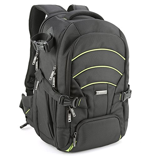 Evecase Large DSLR Camera/Laptop Travel Backpack Bag w/Rain