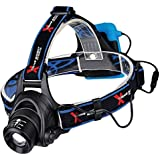Xtreme Bright Pro Series X55 LED Headlamp - Ultimate in camping headlamps & great addition to camping and hiking equipment