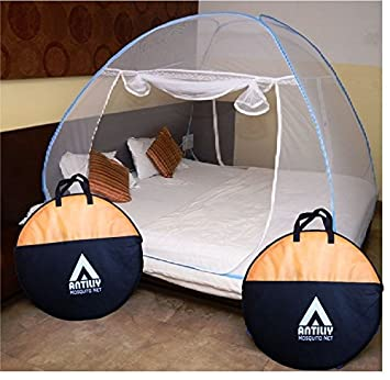 Antiliy Blue Double Bed Mosquito Net