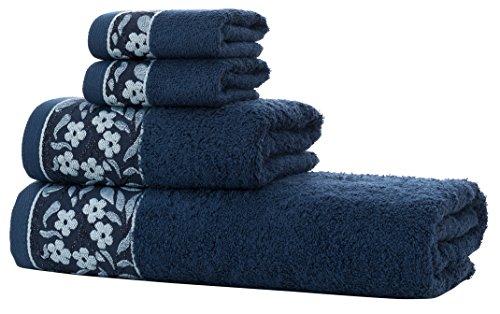 d20621221912 HYGGE Premium Turkish Cotton Towel Set with Floral Jacquard; 1 Bath Towel  (27'