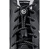 No Tie Shoelaces | Elastic and Reflective Laces with Lock for Athletes, Adults and Kids | Replacement Shoe Strings for Running, Tennis and Golf (Black) Review