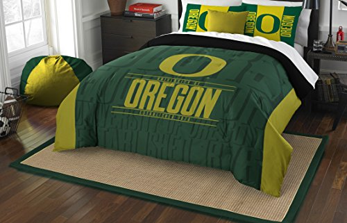 The Northwest Company Officially Licensed NCAA Oregon Ducks Modern Take Full/Queen Comforter and 2 Sham Set