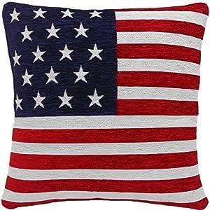 Relleno Estrellas y Rayas Bandera Americana Chenille Rojo Blanco Azul 18