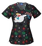 Tooniforms V-Neck Top | Jolly Frosty Fun Size L