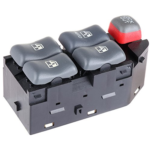 Cavalier Door (Fits for 1997-1999 Pontiac Bonneville 1995-2005 Pontiac Sunfire 1997-2003 Pontiac Grand Prix 2000-2005 Chevy Cavalier 4-Door Models Power Window Switch Driver Side Switch Factory Replace OE 10290244)