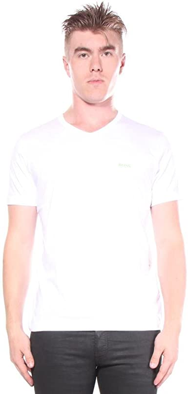 HUGO BOSS TEEVN Men/'s V Neck Soft Cotton Short Sleeve T-Shirt Navy 50271056 410