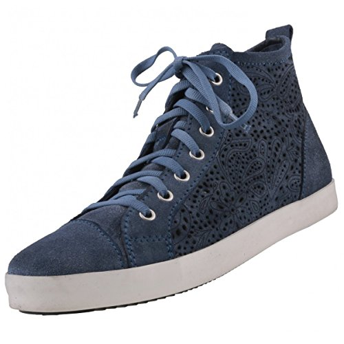 Tamaris Damen Blauw High-top Sneaker Blauw (denim Ex-812)