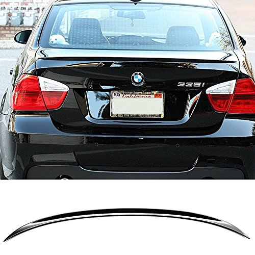 - Pre-painted Trunk Spoiler Fits 2006-2011 BMW 3-Series E90 | M3 Style ABS Painted # 475 Black Sapphire Rear Tail Lip Deck Boot Wing Other Color Available By IKON MOTORSPORTS | 2007 2008 2009 2010