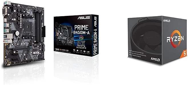 Pack placa base Asus y procesador AMD - ASUS PRIME B450M-A + RYZEN 2600: Amazon.es: Informática