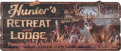 Retreat Wood Sign - Rivers Edge Products Hunter's Retreat Lodge Sign