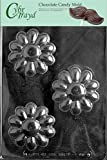 Cybrtrayd F096 Flower Soap Bar Chocolate Candy Mold with Exclusive Cybrtrayd Copyrighted Chocolate Molding Instructions