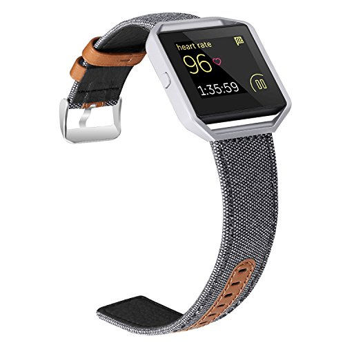 Jobese For Fitbit Blaze Bands, Soft Classic Can...