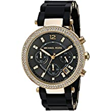 Michael Kors Women's Quartz Stainless Steel Automatic Watch, Color:Black (Model: MK6404)
