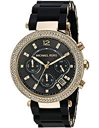 Michael Kors Women's Quartz Stainless Steel Automatic Watch, Color:Black (Model: MK6404)