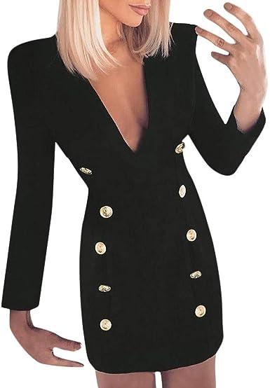 Vestido Corto Mini Sexy Ajustado para Mujer Primavera Verano 2019 ...