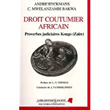 Droit coutumier africain proverbes judic