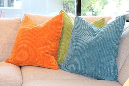 Pillow Decor - Wide Wale Corduroy 22x22 Light Orange Throw P
