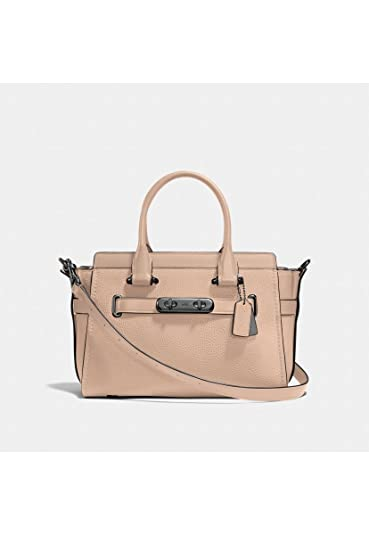 e95157023549 COACH Women s Swagger 27 in Pebbled Leather Dk Beechwood One Size   Handbags  Amazon.com