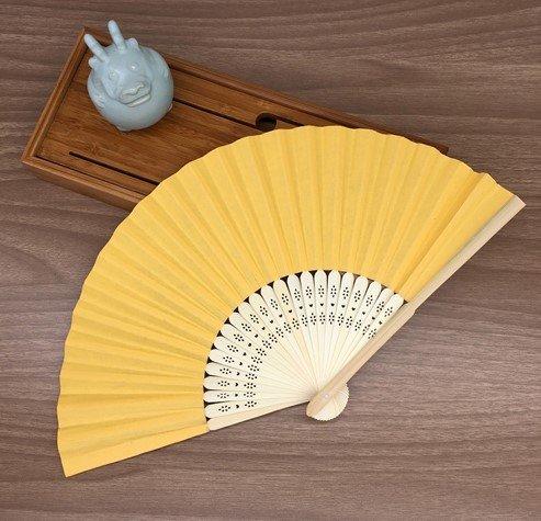 Orange Mulit Colors Paper Bamboo Folding Hand Fan Decoracion Fiestas Decoration Mariage Abanicos Para Boda by Hand Fan