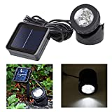 WSMY 6 LED Solar Pond Lights Waterproof Spotlight Solar Powered Landscape Lights Fish Tank Underwater Lamp with Solar Panel