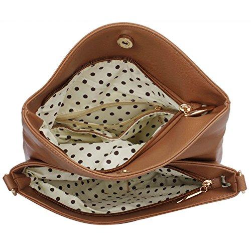Over Fold Bag Leather Ladies Cross Bags New Faux Medium Girl London Body Women Xardi Shoulder Taupe qP80x