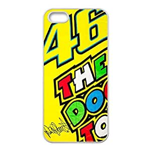 Valentino Rossi Iphone 5 5S Cell Phone Case White Special gift FG8047P8