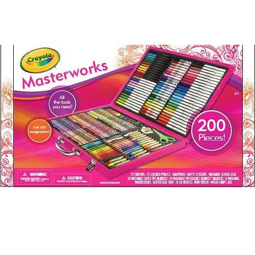 Crayola Pink 200-Piece Masterworks Art Case [Toy]