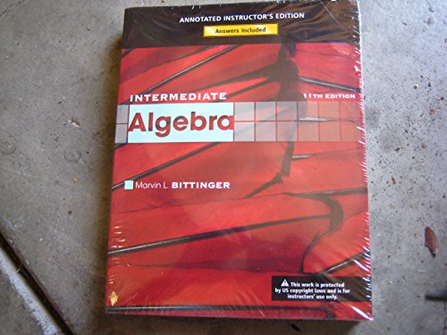 Intermediate Algebra, Annotated Instructor's Edition [With CDROM]