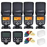 YONGNUO YN-560IV 4PCS Flash Speedlite kit + YN560-TX LCD Flash Controller +Color Filters For Canon DLSR Cameras