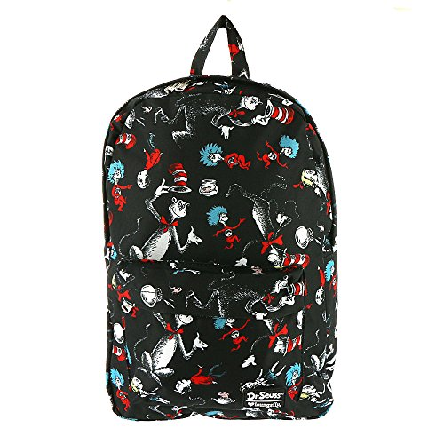 Dr. Seuss Cat in the Hat All Over Print Backpack Standard ()