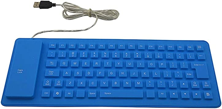 HNMK Teclado USB Mini Teclado Flexible Resistente Al Agua ...