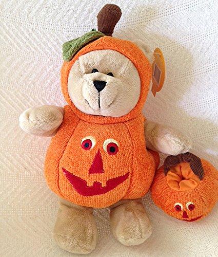 (Starbucks Coffee 2008 Bearista Halloween Pumpkin Bear Plush Doll )