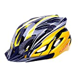 MCH-FJQXZ EPS+PC Yellow and Black Integrally-molded Cycling Helmet(18 Vents)