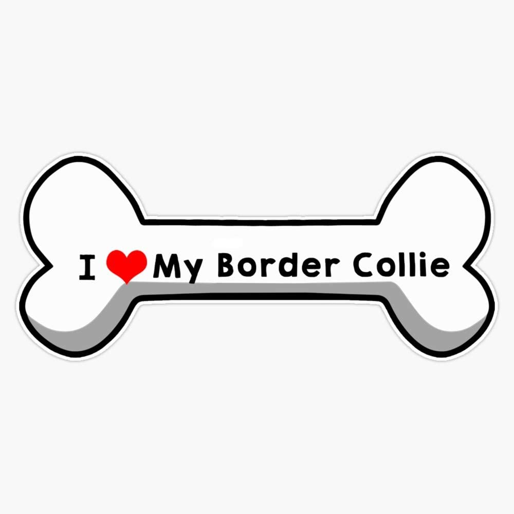 "I Love My Border Collie Vinyl Waterproof Sticker Decal Car Laptop Wall Window Bumper Sticker 5"""
