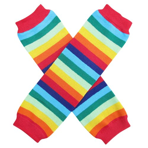Halloween Costume Spooky Styles Holiday Leg Warmers - One Size - Baby, Toddler, Girl (Rainbow Brite)