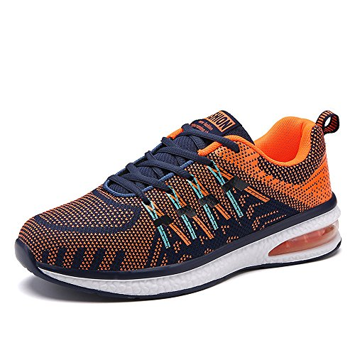 Black Trainers Athletic up Fitness Sports 45 Cushion Footwear Sneakers 36 Pink Running Orange Color Lightweight Mix Orange Blue Lace Air Unisex Shoes xpdZnwxq